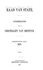 Raad van State: afdeeling voor de geschillen van bestuur, Volume 19