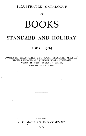 Catalogue of Standard and Holiday Books