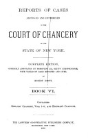 Reports of Cases Adjudged and Determined in the Court of Chancery of the State of New York  Edwards  Chancery  v  1 4  Hoffman s Chancery PDF