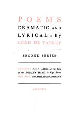 Poems Dramatic and Lyrical: Second Series, Volume 2