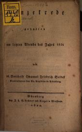 Kanzelrede am letzten Abend des Jahres 1821