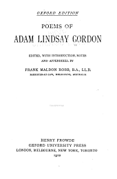 Poems of Adam Lindsay Gordon