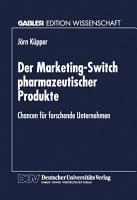 Der Marketing Switch pharmazeutischer Produkte PDF
