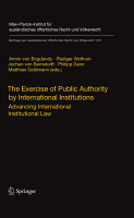The Exercise of Public Authority by International Institutions PDF
