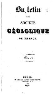 Bulletin de la Société geologique de France