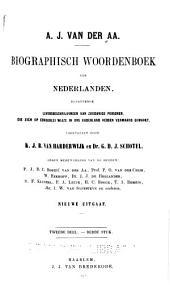 Biographisch woordenboek der Nederlanden: pt.1-2. B-Bors