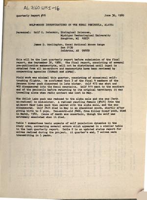 Wolf moose Investigations on the Kenai National Moose Range PDF