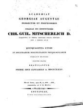 Horatii locum, epist. II, 1, 170 ... 176 commentatus: Gratulationsschrift an C. G. Mitscherlich, Dt