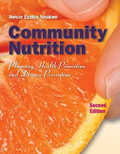 Community Nutrition  Planning Health Promotion and Disease Prevention