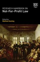 Research Handbook on Not For Profit Law PDF