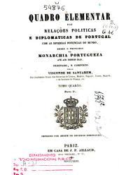 Quadro elementar das relaçoes politicas e diplomaticas de Portugal com as diversas potencias do mundo: (1843-44)