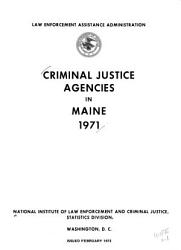 Criminal Justice Agencies In Each State Of The United States 1971 Book PDF