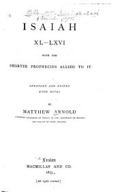 Isaiah XL-LXVI, with the Shorter Prophecies Allied to it: Volume 2