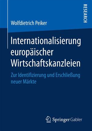 Internationalisierung europ  ischer Wirtschaftskanzleien PDF