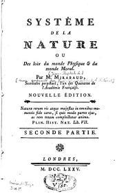 Système de la nature: Volume2