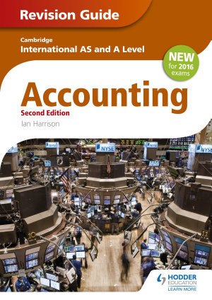 Cambridge International AS A level Accounting Revision Guide 2nd edition PDF