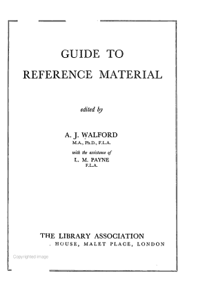 Guide to Reference Material