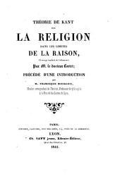 Théorie de Kant sur la religion dans les limites de la raison
