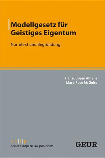 Modellgesetz f  r Geistiges Eigentum PDF