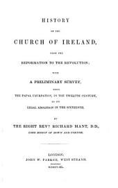 History of the Church of Ireland, from the Reformation to the Revolution
