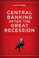 Central Banking after the Great Recession PDF