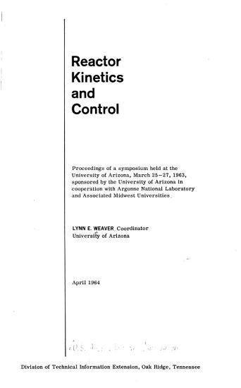 Reactor Kinetics and Control PDF