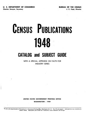 Catalog of United States Census Publications  1790 1945 PDF