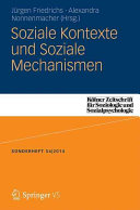 Soziale Kontexte und Soziale Mechanismen PDF