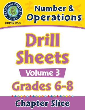 Number   Operations   Drill Sheets Vol  3 Gr  6 8