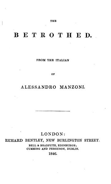 Download The betrothed  From the Italian Book