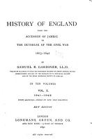 History of England from the Accession of James I  to the Outbreak of the Civil War  1603 1642 PDF
