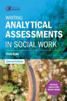 Writing Analytical Assessments in Social Work PDF