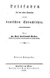 Leitfaden für den ersten unterricht in der deutschen sprachlehre