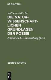 Die naturwissenschaftlichen Grundlagen der Poesie: Prolegomena einer realistischen Ästhetik