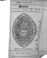 Hymns for the Services of the Church  and for private devotion   The preface signed  A  H  W   i e  Arthur H  Ward   PDF