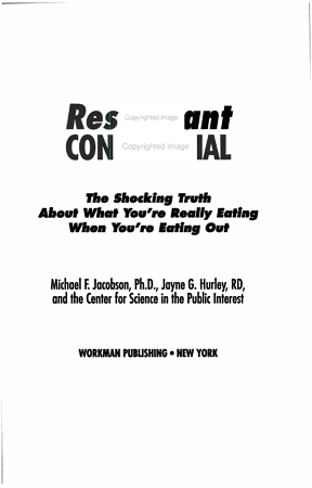 Restaurant Confidential PDF