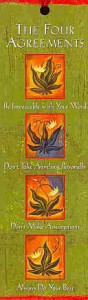 The Four Agreements Beaded Bookmark Book