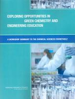 Exploring Opportunities in Green Chemistry and Engineering Education PDF