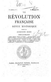 La Révolution française: revue d'histoire moderne et contemporaine, Volume9