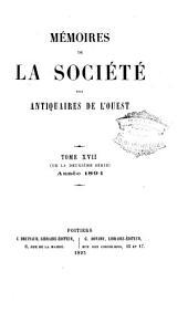 Mémoires de la Société des antiquaires de l'Ouest