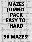 Mazes Jumbo Pack Easy To Hard - 90 Mazes