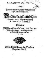 Johannes Calybita: d.i.: Summarischer Begriff und Auszug der Comicotragoediae