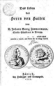 Das Leben des Herrn von Haller PDF