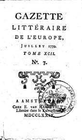 Gazette littéraire de l'Europe: augm. de plus. articles, qui ne se trouvert pas dans l'éd. de Paris, Volume92