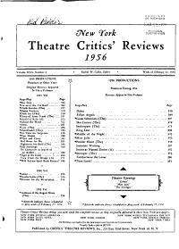 New York Theatre Critics  Reviews PDF