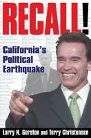 Recall   California s Political Earthquake PDF
