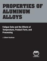Properties of Aluminum Alloys PDF
