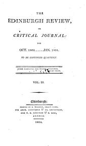 The Edinburgh Review: Or Critical Journal, Volume 3