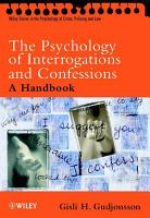 The Psychology of Interrogations and Confessions PDF