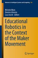 Educational Robotics in the Context of the Maker Movement PDF